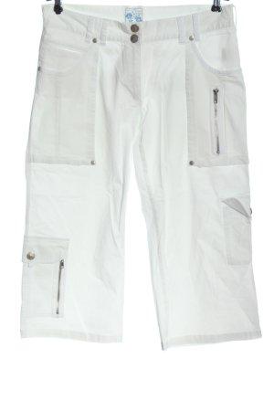 Pantalon capri blanc style décontracté