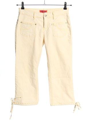 Pantalone a 3/4 crema stile casual