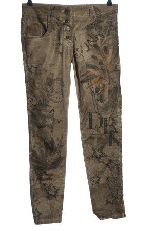 m&h 7/8-broek wolwit-bruin volledige print casual uitstraling