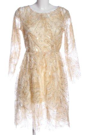 U.VN Robe trapèze blanc cassé-rose chair style décontracté