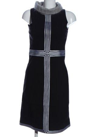 ojala A-Linien Kleid schwarz-weiß Streifenmuster Elegant
