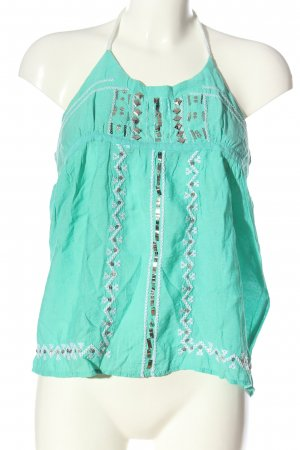 A Line Top turquoise casual look