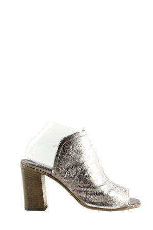 Zomerschoenen met hak zilver casual uitstraling