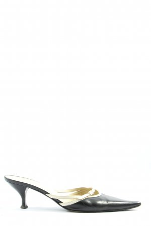 Heel Pantolettes black-cream casual look