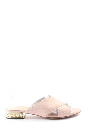 vivikka Heel Pantolettes natural white casual look