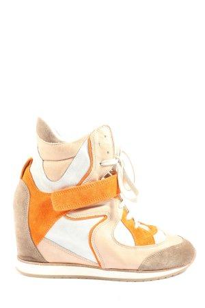 Absatz Sneaker mehrfarbig Casual-Look
