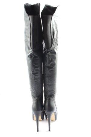 Heel Boots black casual look