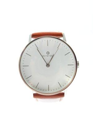 Orologio analogico marrone stile professionale