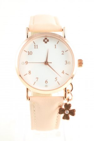 Analog Watch cream-gold-colored casual look