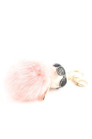 Colgante rosa-blanco puro look casual