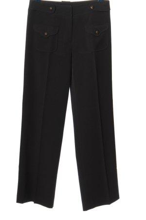 Pantalone da abito nero stile casual