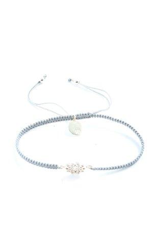 izel Braccialetto sottile blu-argento stile casual