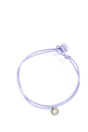 L&L Pulsera lila-color plata elegante