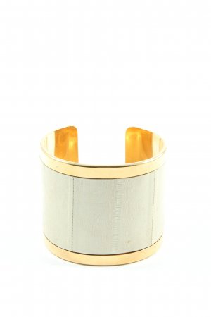 Bangle natural white-gold-colored elegant