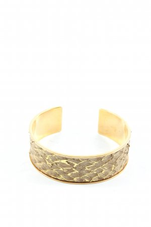 Armlet gold-colored-light grey animal pattern casual look