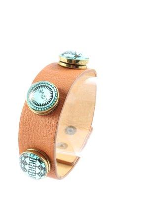 Yik Pung Bracelet de bras brun-doré style décontracté