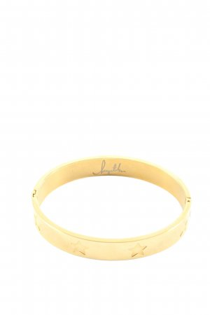 Armlet gold-colored themed print elegant