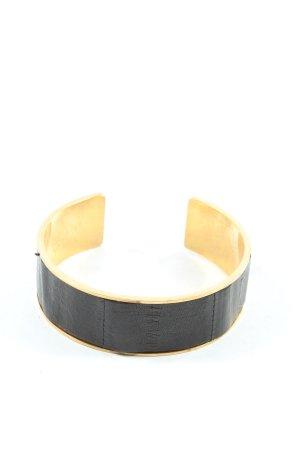 Bracelet de bras noir-doré style décontracté