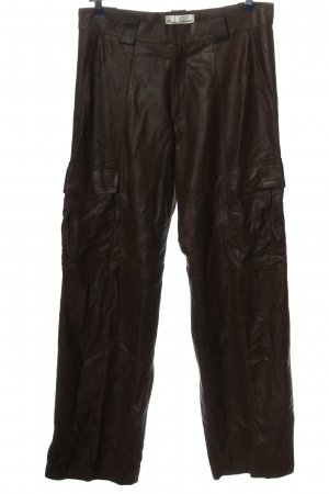 Leather Trousers brown casual look