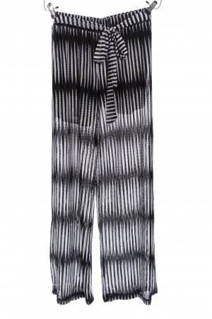 Baggy Pants weiß-schwarz Allover-Druck Casual-Look