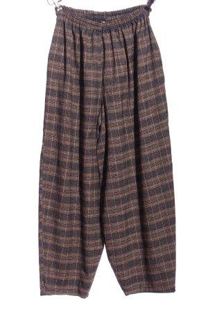 Baggy Pants braun Karomuster Casual-Look