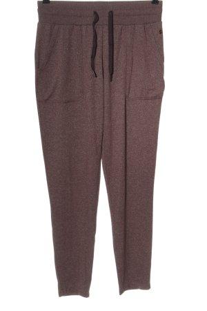Luźne spodnie brązowy Melanżowy W stylu casual
