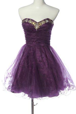 Vestido de baile lila elegante