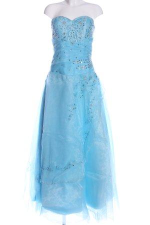 Vestido de baile azul elegante
