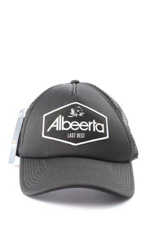 Baseballówka czarny-biały Wydrukowane logo W stylu casual