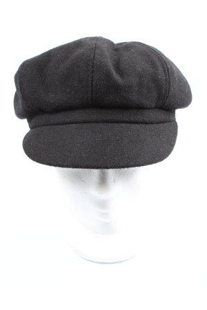 Baker's Boy Cap black casual look