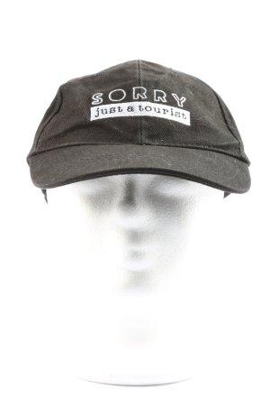 odernichtoderdoch Cappello da panettiere nero-bianco caratteri stampati