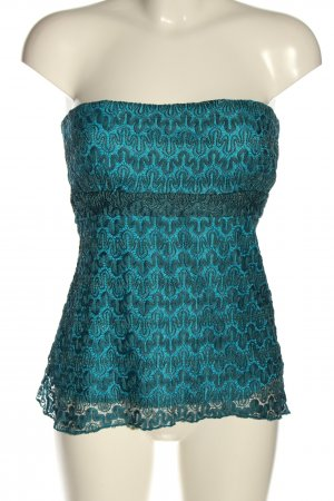 Bandeau top blauw casual uitstraling