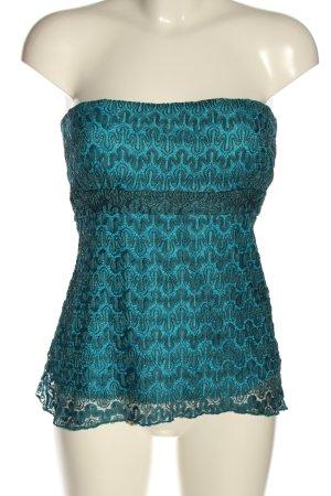 Top a fascia blu stile casual