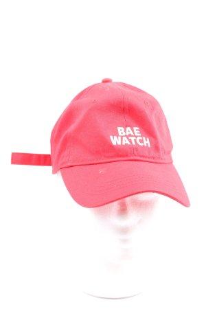 bae watch Baseballówka czerwony Wyhaftowany logo W stylu casual