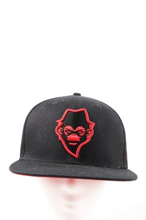 Speed Monkeys Berretto da baseball nero Stampa a tema stile casual