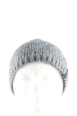 Berretto grigio chiaro puntinato stile casual