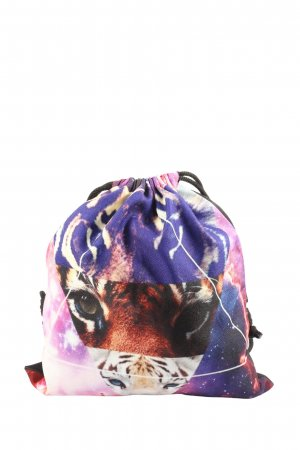 Pouch Bag themed print casual look