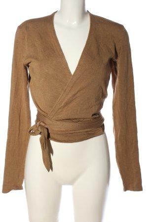 Wraparound Shirt brown casual look