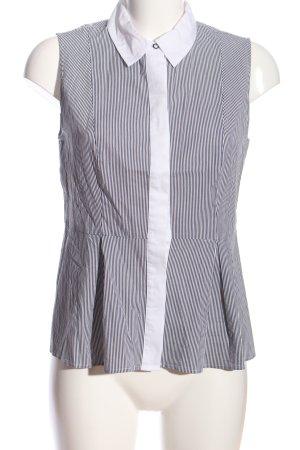 s.Oliver Blouse topje zwart-wit gestreept patroon zakelijke stijl