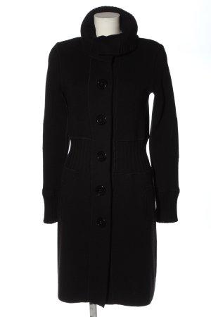 Długi płaszcz czarny W stylu casual