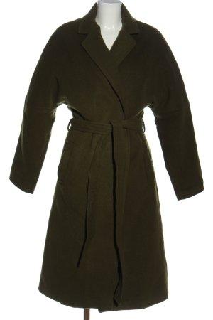 Długi płaszcz khaki W stylu biznesowym