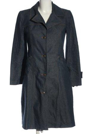 Długi płaszcz niebieski W stylu casual