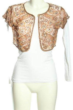 Savida Bolero white-brown casual look