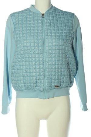 Bomberka niebieski Pikowany wzór W stylu casual