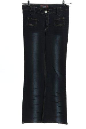 Jeansy o kroju boot cut niebieski W stylu casual