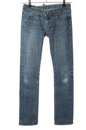 Boot Cut Jeans blau Casual-Look