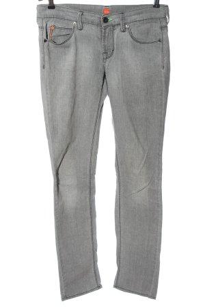 Jeans boyfriend gris clair style décontracté