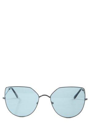 Gafas negro-azul look casual