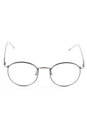 Brille schwarz-goldfarben Casual-Look