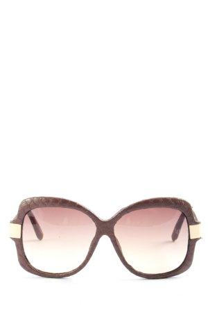 linda farrow Brille braun-goldfarben Animalmuster Casual-Look
